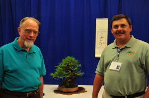 Tom Zane received the BSF Life Time Achievement and is shown here with his Best Yamadori Redwood and headliner Mike Feduccia